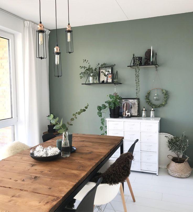 Schöne farbige Wand #dekorationwohnung