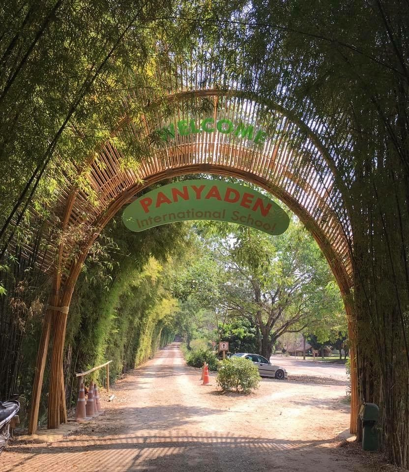 Our new bamboo entrance gate to the school designed and for International decor gates