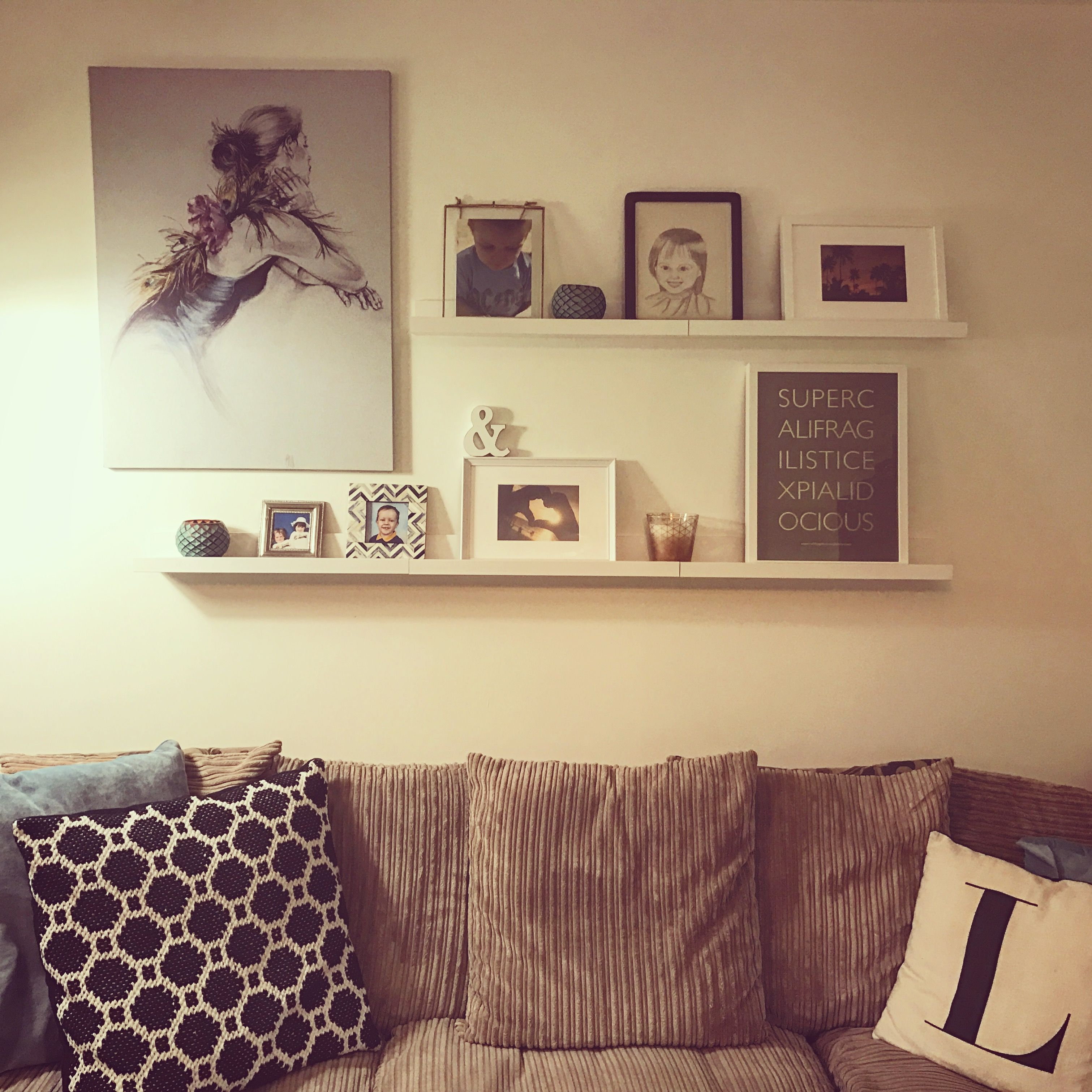 Picture ledge decor | Bedroom | Pinterest | Picture ledge, Photo ...