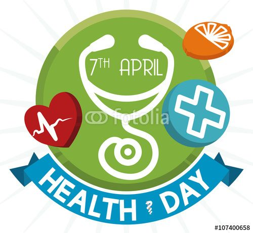 Healthy Buttons And Ribbon For World Health Day Vector Illustration Imagenes De Archivo Y Vectores Libres De De World Health Day Health Day World Cancer Day