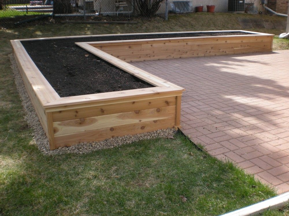 Planter box como lake carpentry backyard pinterest for Vegetable garden box layout