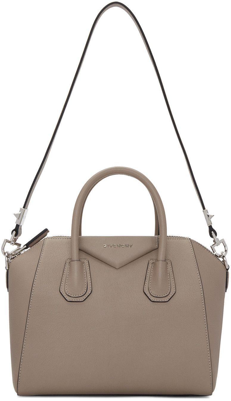 b6b43536c2 Givenchy - Taupe Small Antigona Bag | Bags