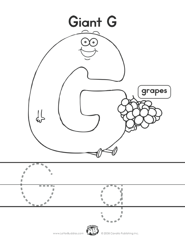 letter g worksheets letter buddies coloring worksheet g printable abc 1365