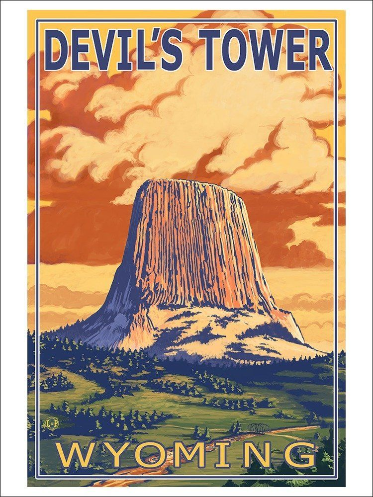 Amazon com: Devil's Tower, Wyoming (9x12 Art Print, Wall