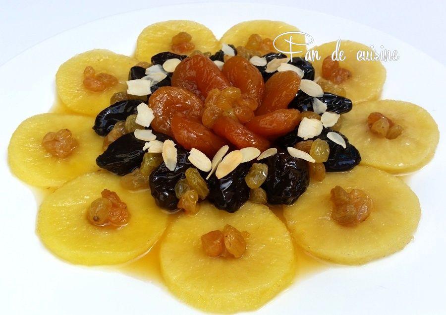 Tadjine lahlou pommes/fruits secs