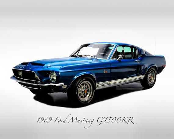 Classic Cars – 1969 Ford Mustang GT500KR – Print