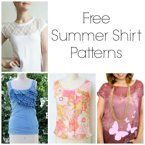 1a74c7445edaa Stay cool and stylish wherever you are with these 28 Free Summer Shirt  Patterns.