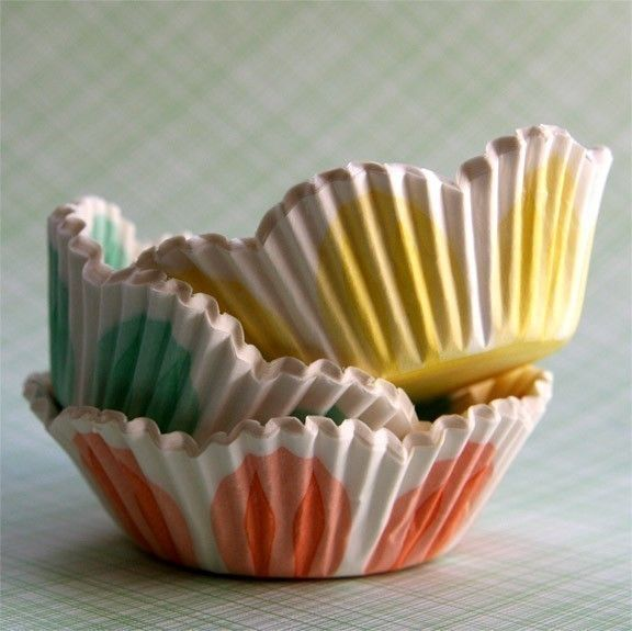 Tulip Cupcake Liners 45 Yellow Peach And Green Flower Cupcake Liners Cupcake Liner Flowers Cupcake Liners Peach Green