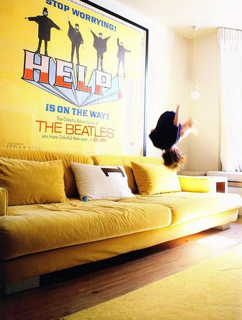 Milk Déco by stylemadesimple, via Flickr  yup - the Beatles make me do summersaults too....