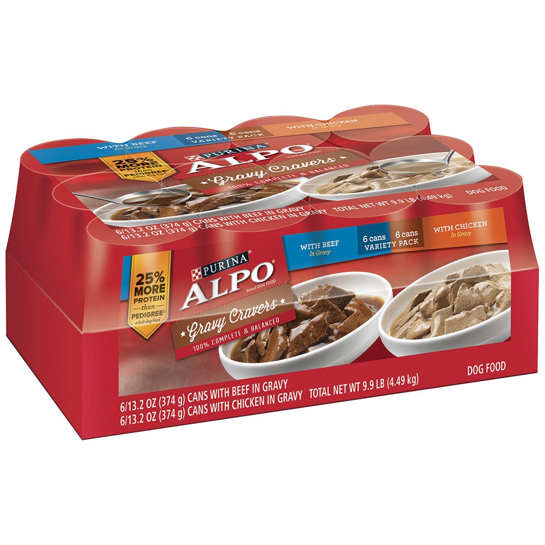 Purina Alpo Gravy Cravers Food Variety Pack 13 2 Oz Case Of 12