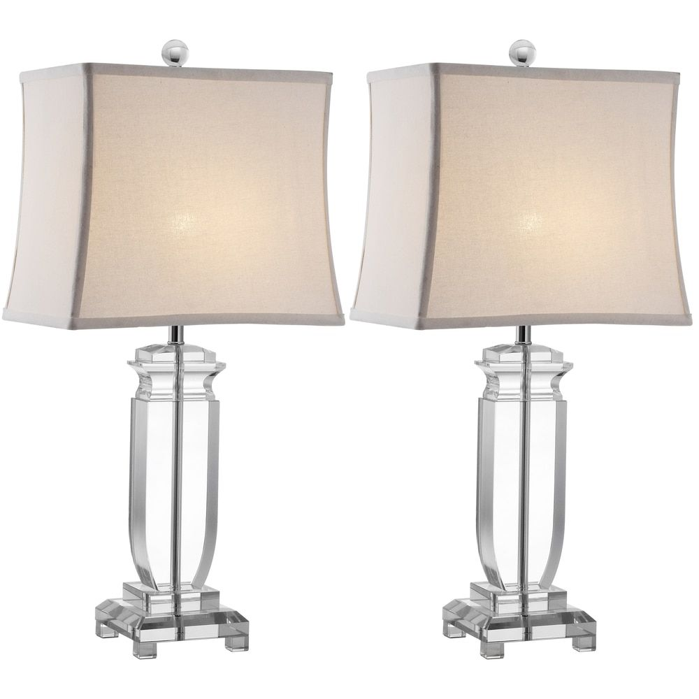 Safavieh Lighting 25-inch Olympia Crystal Table Lamps (Set of 2 ...