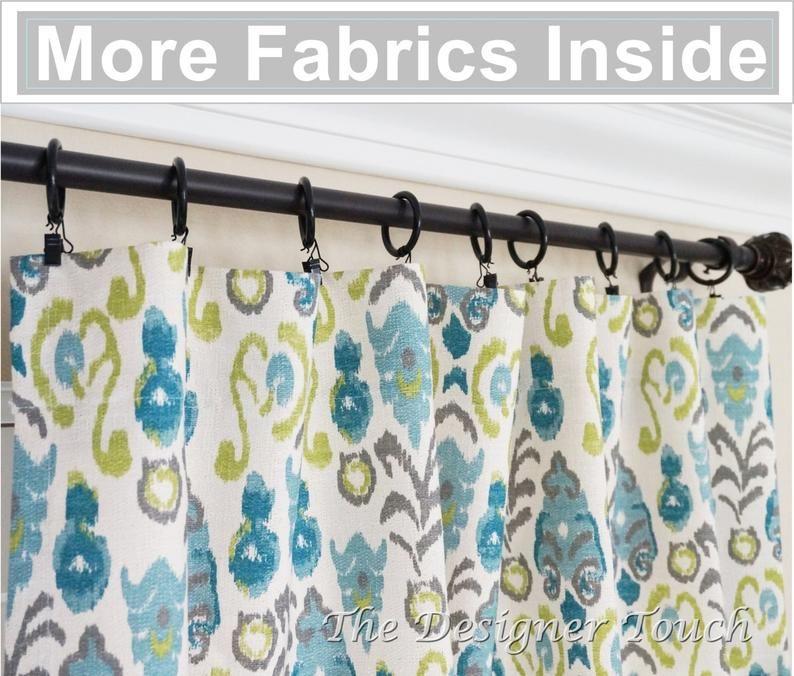 pair peacock curtain panels kiwi green