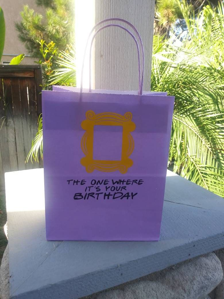 Friends tv show inspired party favors or gift bags
