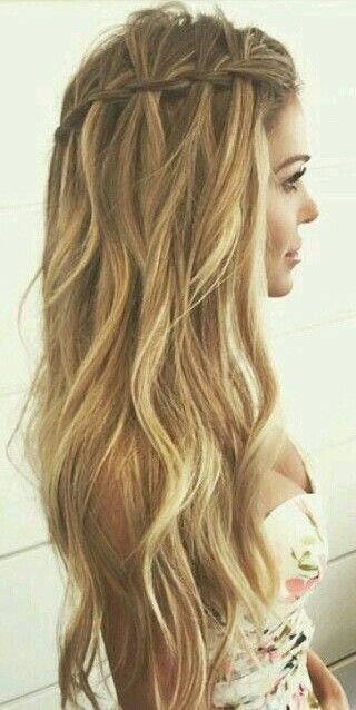 Wavy Hair Styles Choose An Elegant Waterfall Hairstyle For Your Next Event