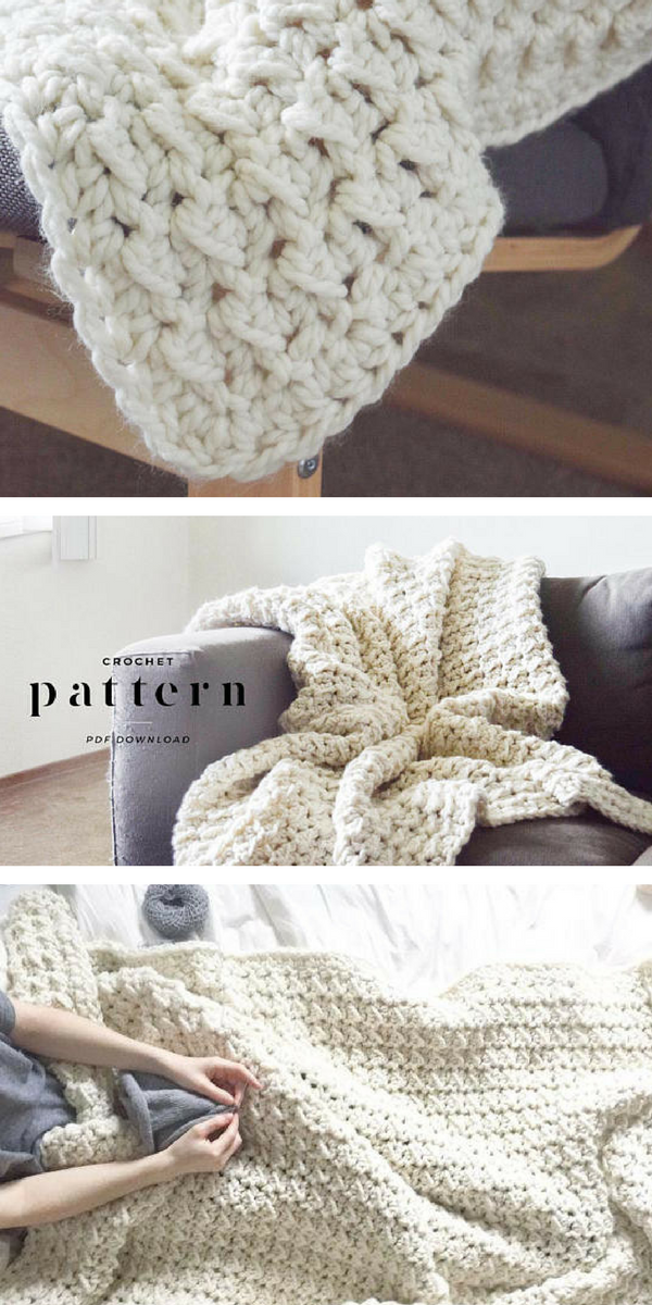 Beautiful Crochet Throw Afghan Pattern. I love the stitch in this ...