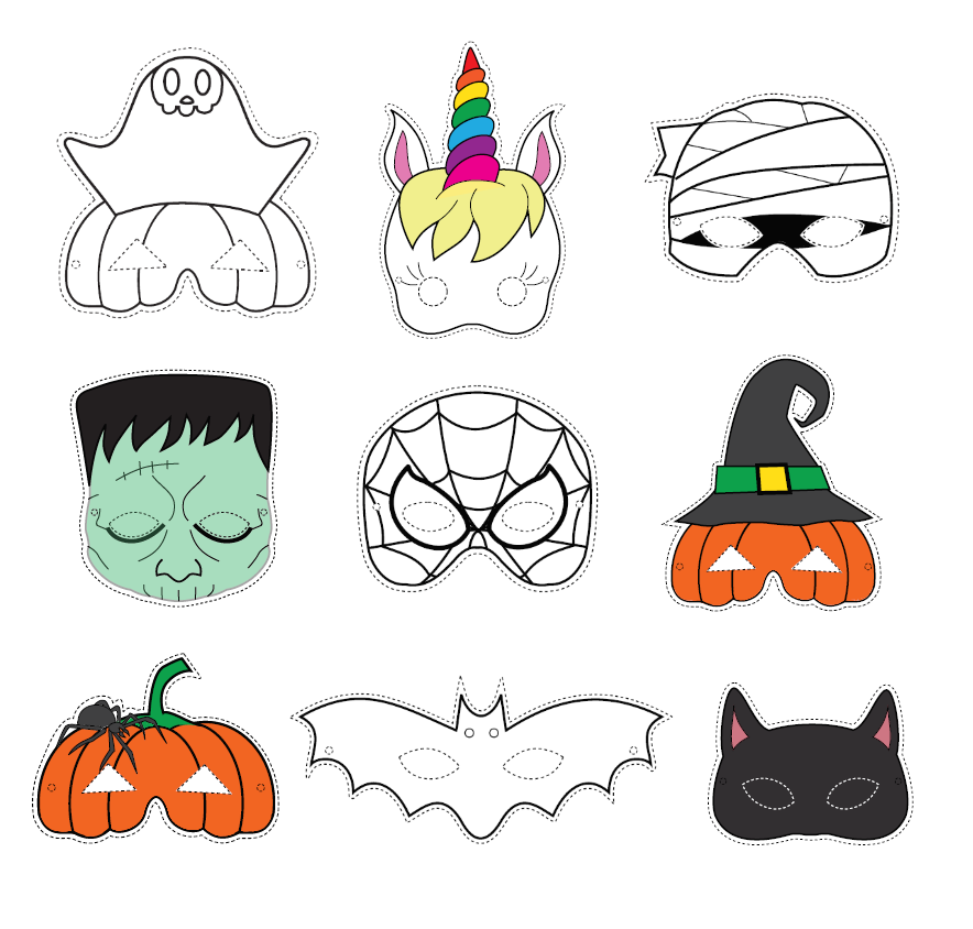 Halloween Mask Set No Prep Craft (With images