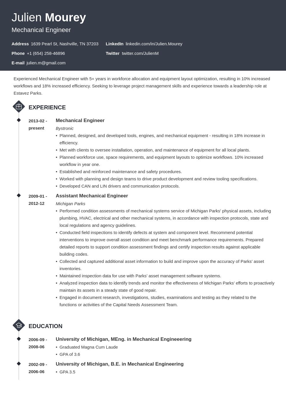 Mechanical Engineer Resume Examples Template Guide Mechanical Engineer Resume Engineering Resume Job Description Template