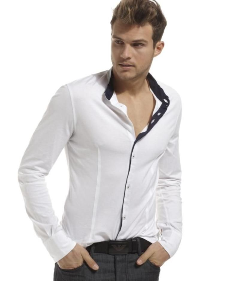 Armani-jeans-shirt-tipped-button-down-white-mens-apparel-shirts-casual.jpg?w=687 (768u00d7939) | His ...