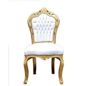 Barock Esszimmer Stuhl Weiß/Gold: Amazon.de: Küche U0026 Haushalt