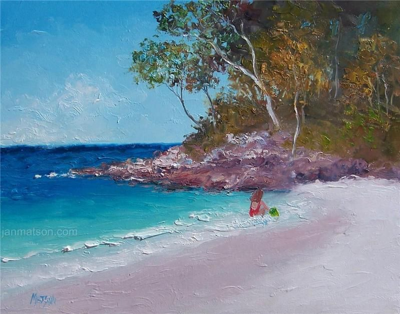 Beach Paintings Oil Art Original Matson Paintings Pinterest