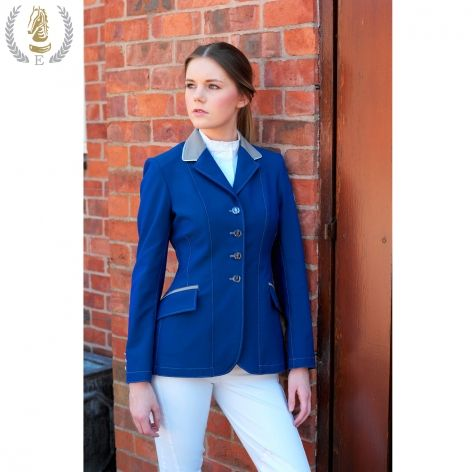 Royal Blue Technical Show Jacket with Silver Grey Collar | Future ...