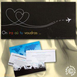 1000 images about faire part on pinterest love heart voyage and australia - Faire Part Mariage Billet D Avion
