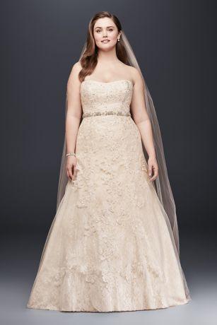Jewel Lace A-Line Beaded Plus Size Wedding Dress Style 9WG3755 ...