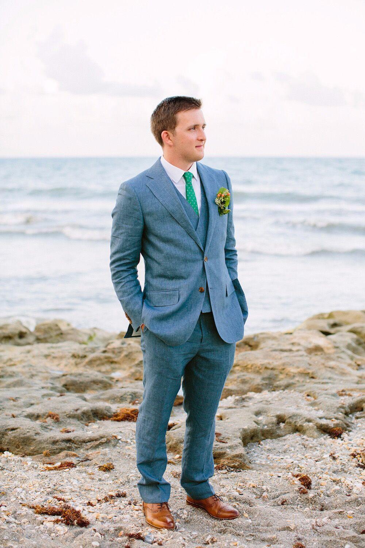 Click to Buy << 2017 Latest Coat Pant Designs Blue Linen Custom ...