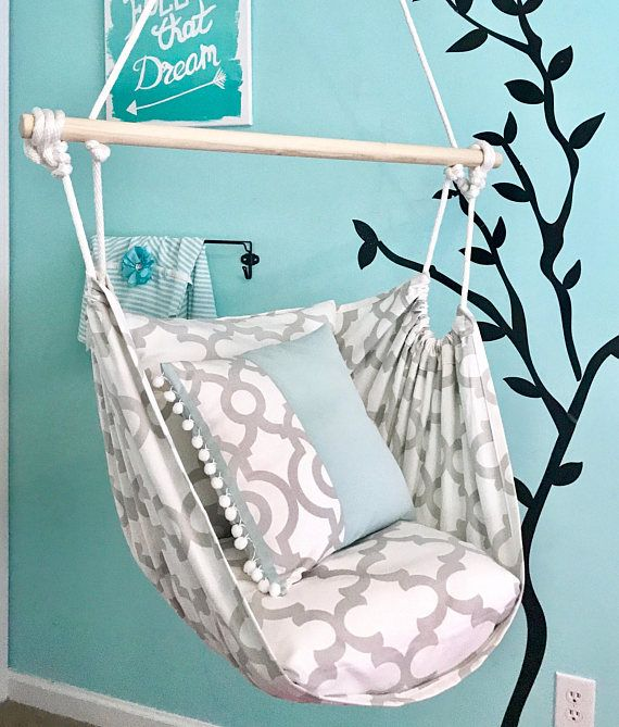 Double Sided Hammock Chair Swing Indoor Outdoor Hanging