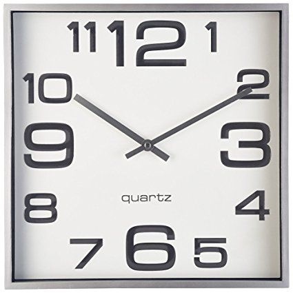 Large Wall Clock 11 Inch Modern Large Square Elegant Wall Clock Quality Quartz Battery Operated Silver Matte Gray D Large Wall Clock Home Clock Wall Clock
