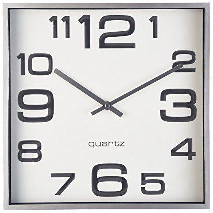 Large Wall Clock 11 Inch Modern Large Square Elegant Wall Clock Quality Quartz Battery Operated Silver Matte Gray D Large Wall Clock Home Clock Wall Clock