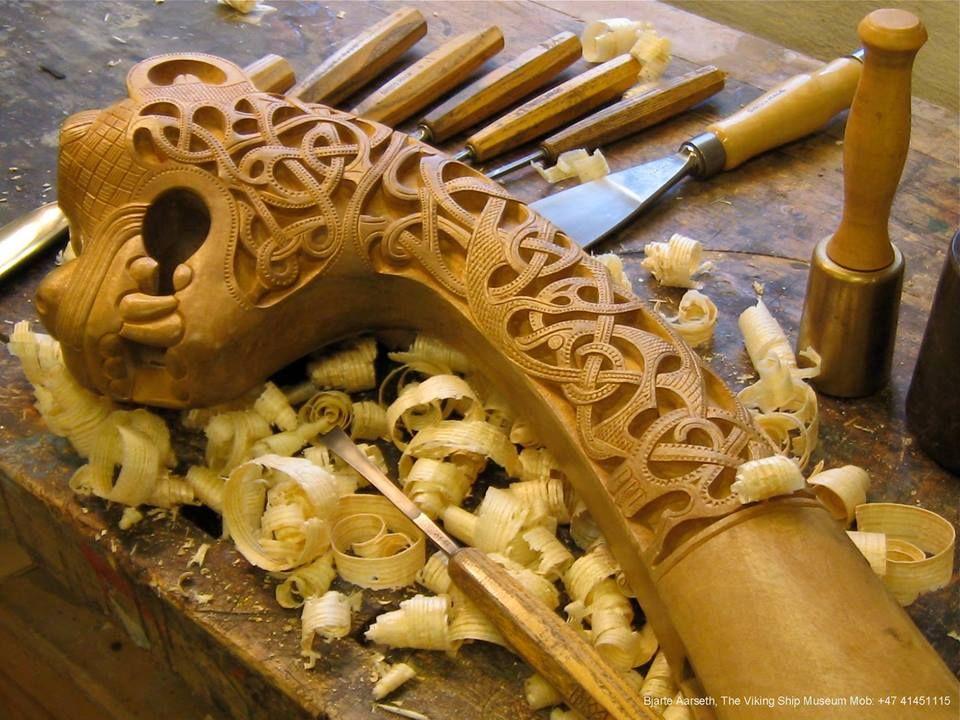 Viking inlaid chip carving gaming piece