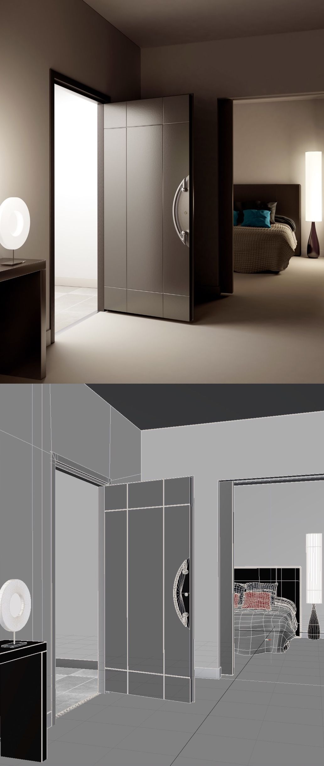 aménagement intérieur porte 3d Malerba création benoit redard ...