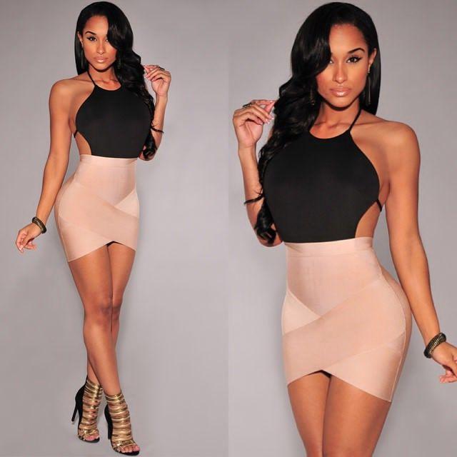 2015 Bandage Women Sexy Bodycon Short Dresses, $64.00
