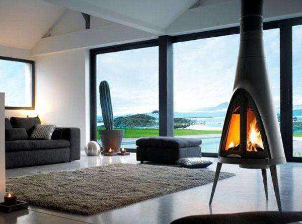 Freistehender Kaminofen Und Feuerstelle A Interior Chimney Stove