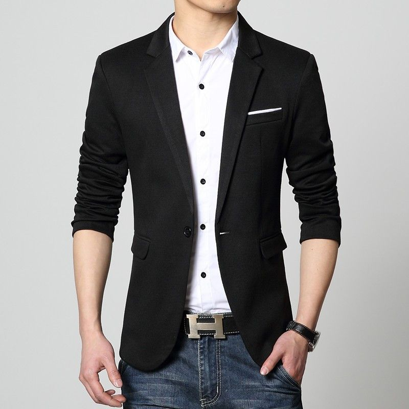 Mens American Slim Fit Fashion Cotton Blazer