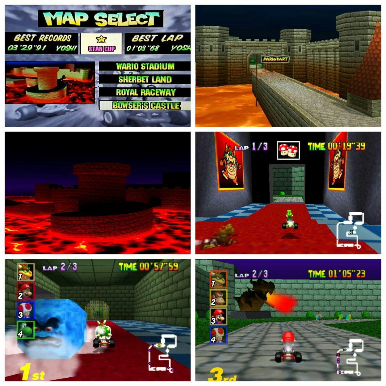 Mario Kart 64 Courses Bowser S Castle Screenshots Mario