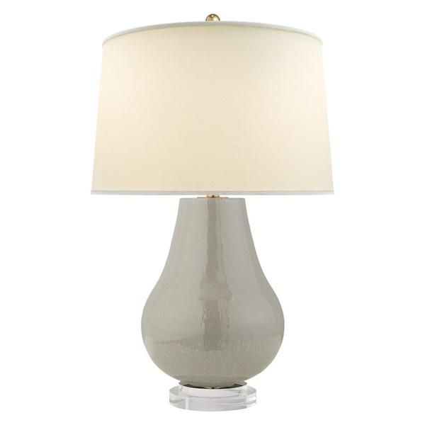 Arica Table Lamp Shellish Gray Simple Shapes Nature Inspired And Lights