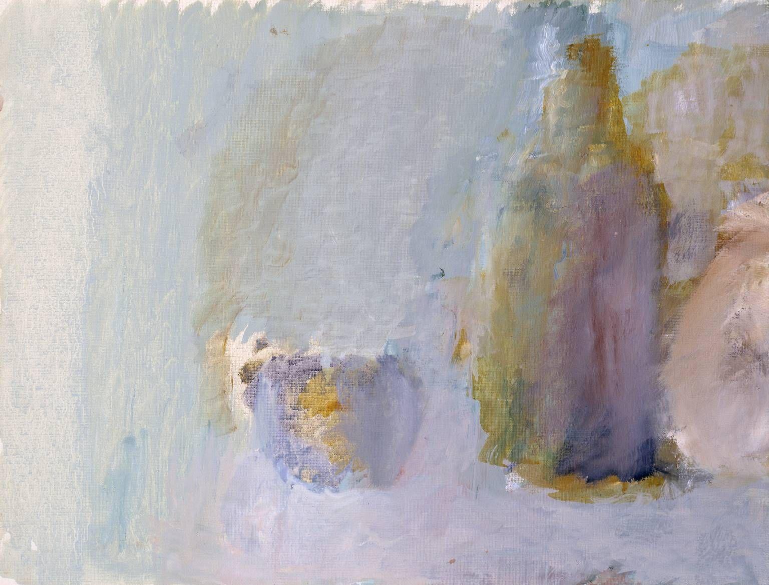 Adrian Stokes. 'Still Life: Last Eleven (No 7)'. Oil on canvas. 1972.