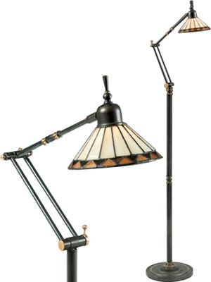 Quoizel Arts & Crafts Style Pueblo Swing Arm Floor Task Lamp TF9152Z ...