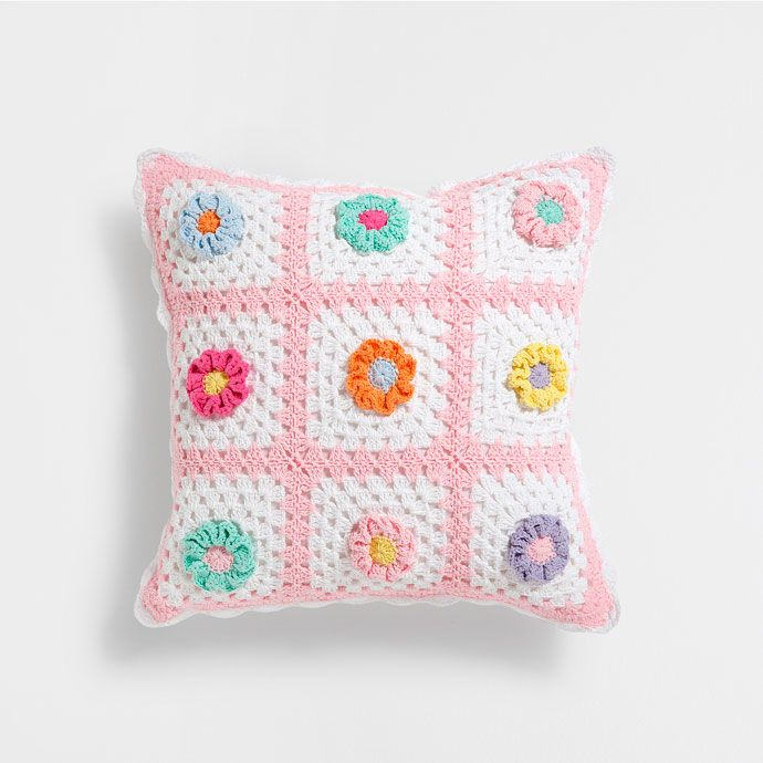 Cojín algodón crochet | Un lugar para soñar | Pinterest ...