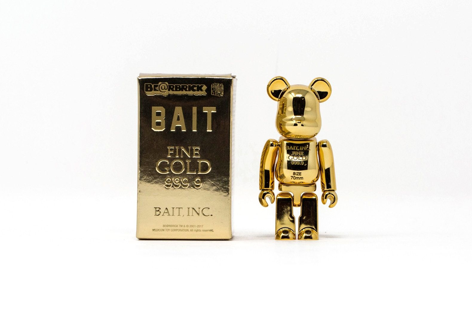 d4ce91a0 BAIT x Medicom Toy Bearbrick GOLD BARS design be@rbrick 100% 400% toy  figurine