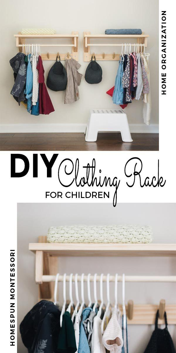 DIY: Clothing Rack with Shelf #clothingracks