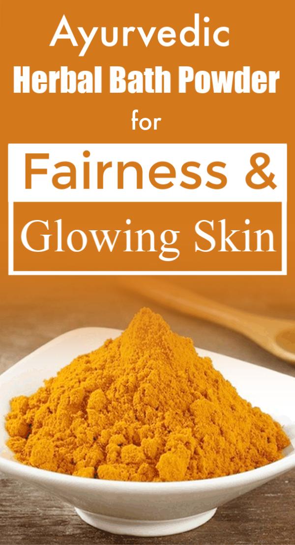 Ayurvedic Herbal Bath Powder For Fairness Glowing Skin Babies