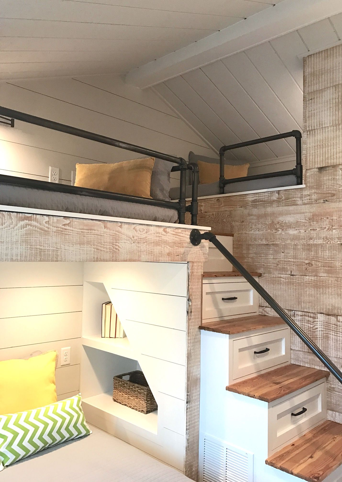 Another View Of These Adorable Built In Bunk Beds Loft Spaces