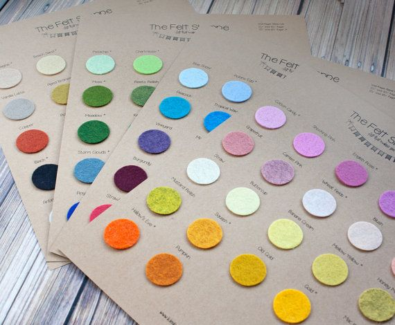 Felt Color Charts  90 COLORS  Wool Blend Felt  by TheFeltShoppe