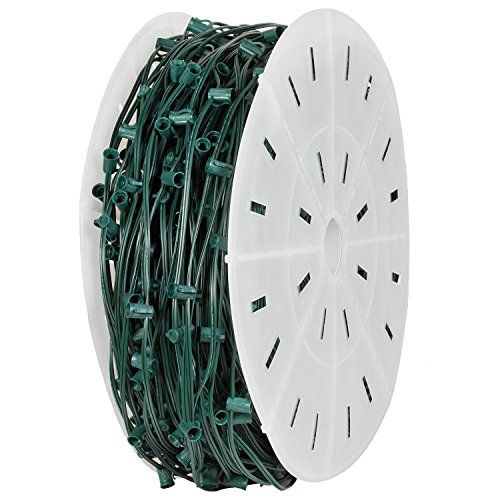 "Holiday Lighting Outlet C9 Christmas Stringer Bulk, 15"" Spacing, Candelabra Base (E17), SPT-2 10 Amp wiring, 1000' Reel (Green, 15"" Spacing) - http://www.specialdaysgift.com/holiday-lighting-outlet-c9-christmas-stringer-bulk-15-spacing-candelabra-base-e17-spt-2-10-amp-wiring-1000-reel-green-15-spacing/"