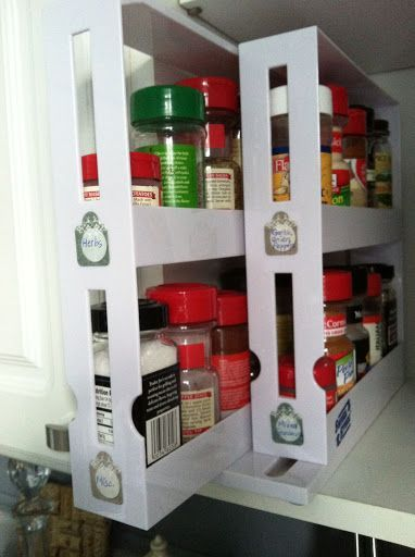 The pull-out spice rack from Bed, Bath & Beyond with DIY ...