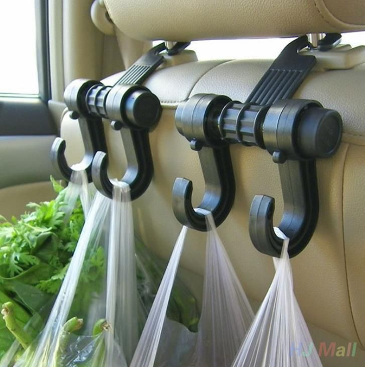 Double Auto Car Back Seat Headrest Hanger Holder Hooks Car Seat Headrest Hanger Bag Hook Holder  For Bag Purse Cloth Car Styling