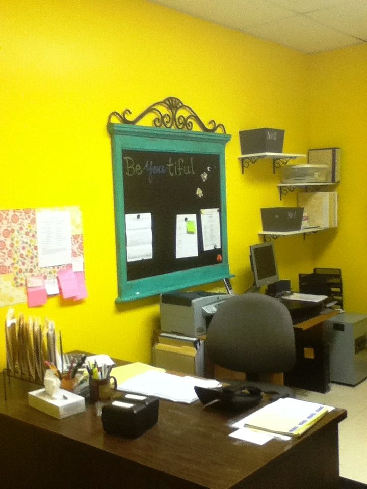 Pre School Child Care Center Lobby Office Ideas: The Office At The Daycare---Mrs. Sandi Made The Magnetic